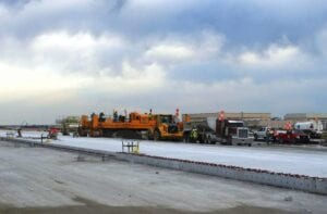 Tulsa International Airport's third phase of the reconstruction of Runway 18L/36R Concrete PCCP paving