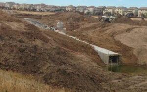 Box culvert installation and storm drain underground utility