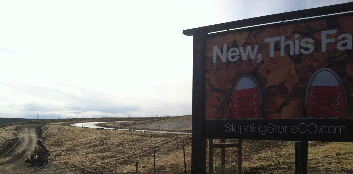 Stepping Stone Development Welcome SIgn